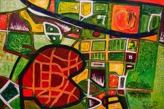 EMOZIONI ROMA La Garbatella Acrilico su tela 100 x 150 cm