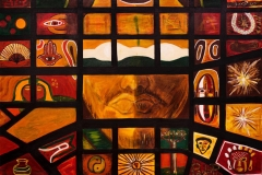 EMOZIONI ROMA Piazza Vittorio Acrilico su tela 100 x 150 cm